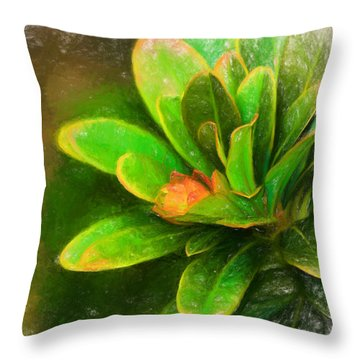 Throw Pillow featuring the digital art Faded Flora by Terry Cork