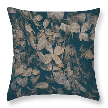 Faded Flowers Throw Pillow by Edward Fielding