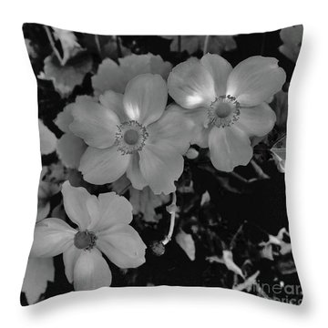 Faded Flowers Throw Pillow