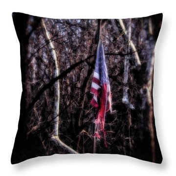 Throw Pillow featuring the photograph Faded Glory by Alan Raasch