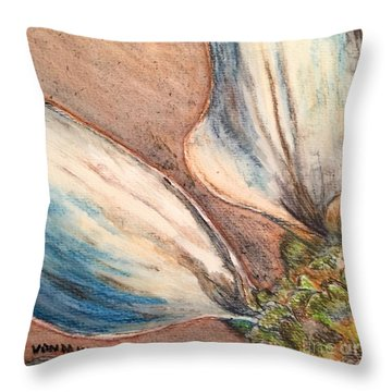 Faded Glory  Throw Pillow by Vonda Lawson-Rosa