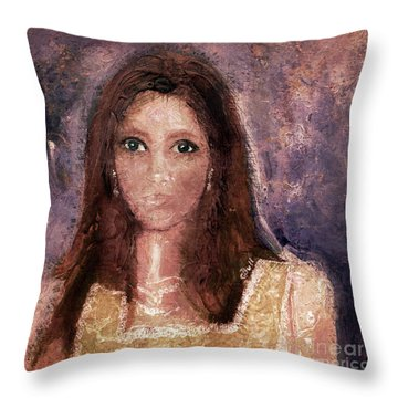 Faded Memories Throw Pillow by Claire Bull