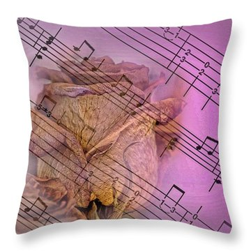 Faded Music Throw Pillow