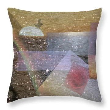 Faded Romance Throw Pillow