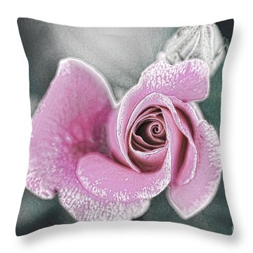 Faded Romance Throw Pillow