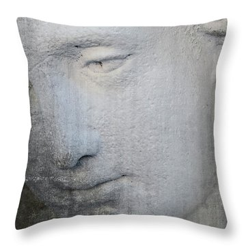 Faded Statue Throw Pillow