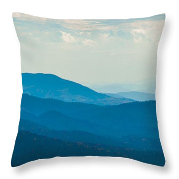 Fading Appalachians Throw Pillow