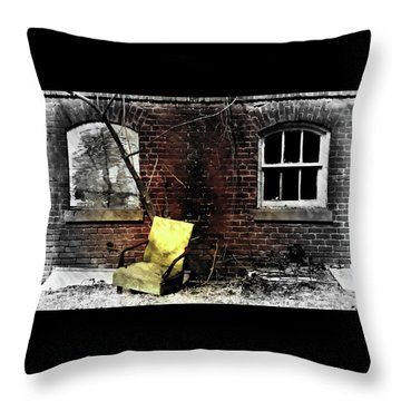 Throw Pillow featuring the photograph Fading Away by Jessica Brawley