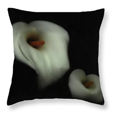 Fading Beauty Throw Pillow by Donna Blackhall