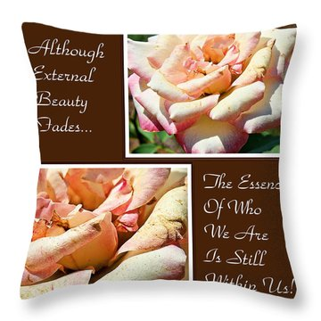 Fading Beauty- Inspirational Fine Art Print Throw Pillow