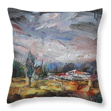 Fading Day IIi Throw Pillow