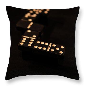 Fading Dominos Throw Pillow