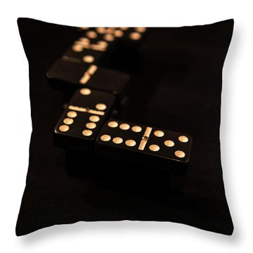 Fading Dominos Throw Pillow