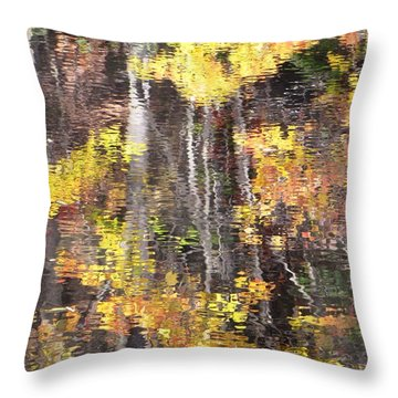 Fading Fall Water Throw Pillow