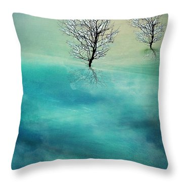 Fading Hills Throw Pillow