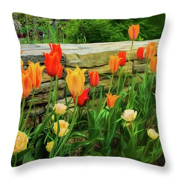 Fading Into The Dream Throw Pillow