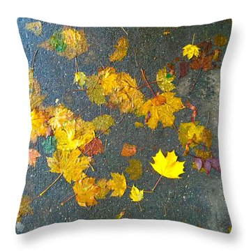Fading Leaves Throw Pillow