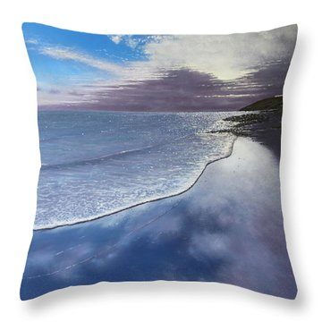 Fading Light Throw Pillow by Paul Newcastle
