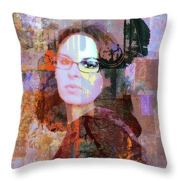 Fading Memory Throw Pillow by Robert Ball
