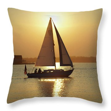 Fading Sun Throw Pillow