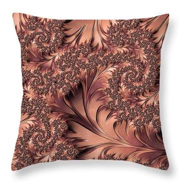 Throw Pillow featuring the digital art Faerie Forest Floor I by Susan Maxwell Schmidt