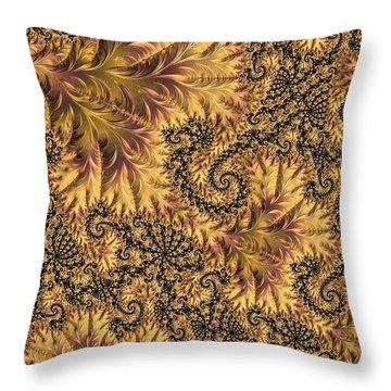 Throw Pillow featuring the digital art Faerie Forest Floor II by Susan Maxwell Schmidt