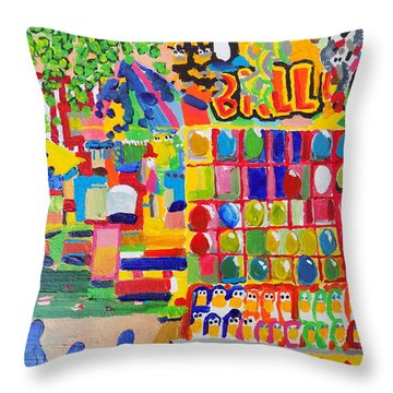 Fair Balloons Throw Pillow