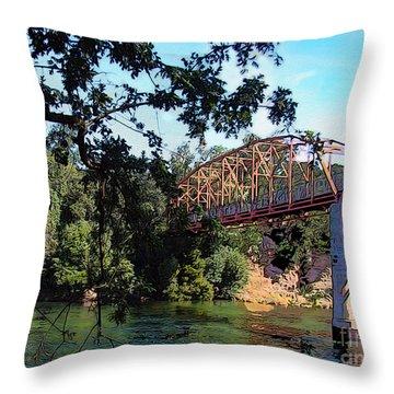 Fair Oaks Bridge Throw Pillow by Anthony Forster