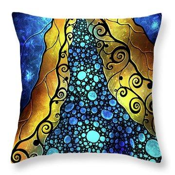 Fair Ophelia Throw Pillow by Mandie Manzano