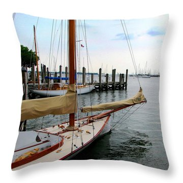 Fair Weather Annapolis  Throw Pillow