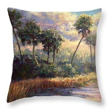 Fairchild Gardens Throw Pillow by Laurie Hein