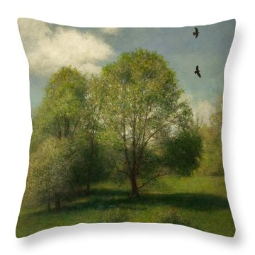 Throw Pillow featuring the painting Fairchild Hill by Wayne Daniels