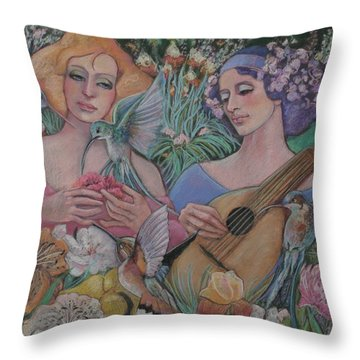 Faire Garden Throw Pillow