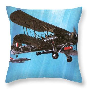 Fairey Swordfish Throw Pillow