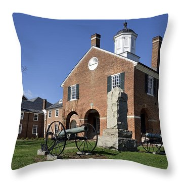 Fairfax Historic Courthouse - Virginia Throw Pillow by Brendan Reals