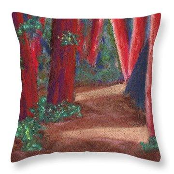 Fairfax Redwoods Throw Pillow