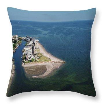 Fairfield Beach Aerial Photo Throw Pillow