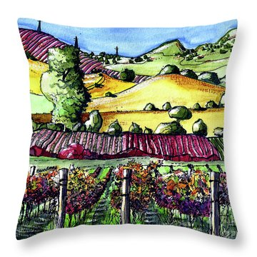 Fairfield Vineyards Throw Pillow