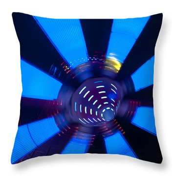 Fairground Abstract Vi Throw Pillow by Helen Northcott