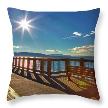 Fairhaven Boardwalk Throw Pillow
