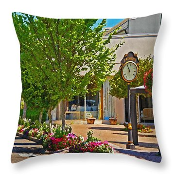 Fairhope Ave With Clock Looking North Up Section Street Throw Pillow