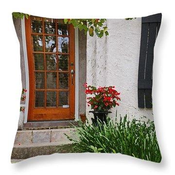 Fairhope Doorway Throw Pillow by Michael Thomas