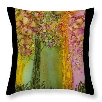 Fairie Forest Throw Pillow