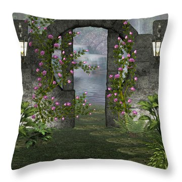Fairies Door Throw Pillow