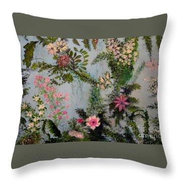 Fairies Garden Throw Pillow