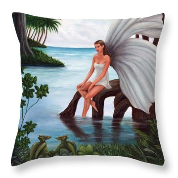 Fairies Glade Throw Pillow