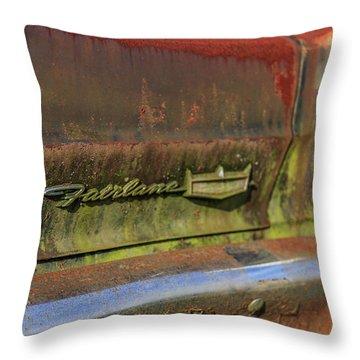 Fairlane Emblem Throw Pillow