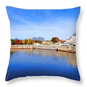Fairmount Water Works - Philadelphia Throw Pillow by Bill Cannon