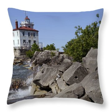 Fairport Harbor Lighthouse Throw Pillow