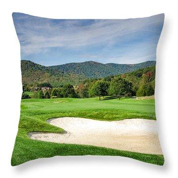 Fairway Red Throw Pillow